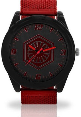Star Wars Printed Face Watch, Red Mesh Band