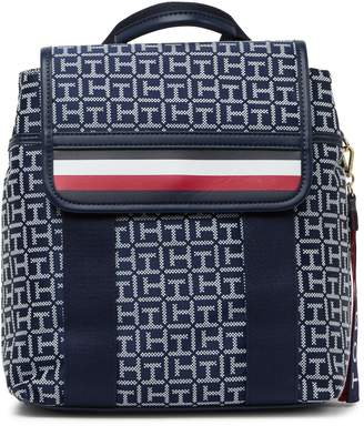 Tommy Hilfiger Viola Flap Monogram Backpack