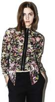 3.1 Phillip Lim Printed Long-Sleeve Ruched Blouse