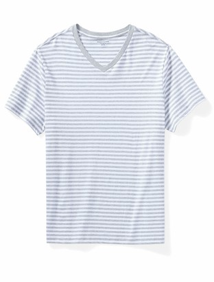 Amazon Essentials Men's Short-Sleeve Stripe V-Neck T-Shirt