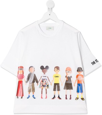 Fendi FFriends print T-shirt