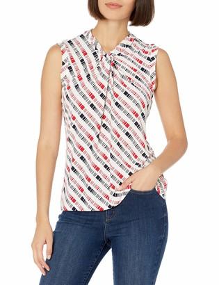 Tommy Hilfiger Women's Knot Neck Sleeveless Knit Top
