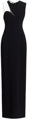 Stella McCartney Evelyn Sleeveless Illusion Crepe Gown