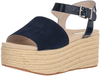 Kenneth Cole New York Women's Indra Platform Espadrille Sandal with Ankle Strap Heeled
