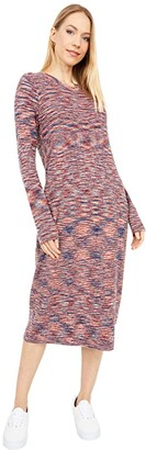 Madewell Space-Dyed Midi Sweater Dress (Deep Navy) Women's Dress