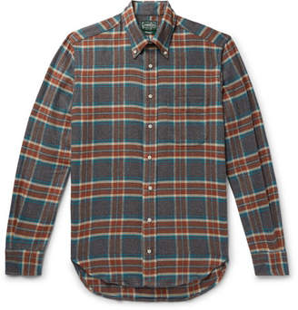 Gitman Brothers Button-Down Collar Checked Brushed Cotton-Flannel Shirt