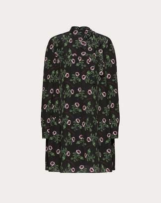 Valentino Undercover Print Crepe De Chine Dress Women Multicoloured Silk 100% 42