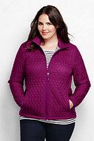 Lands' End Women's Plus Size Primaloft Packable Jacket-Raisin Floral