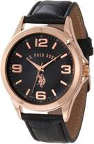 U.S. Polo Assn. Classic Men's USC50077 Strap with Rosegold-Tone Case Watch