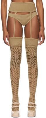 Isa Boulder SSENSE Exclusive Beige Retired Stripper Briefs and Leggings Set