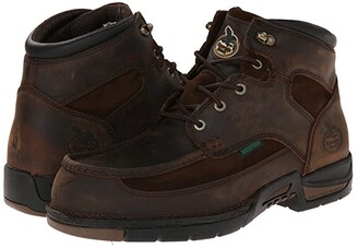 Georgia Boot Athens 6 Moc Toe Lace Up (Brown) Men's Work Lace-up Boots