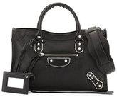 Balenciaga Classic Metallic Edge City Small Bag, Black (Noir)