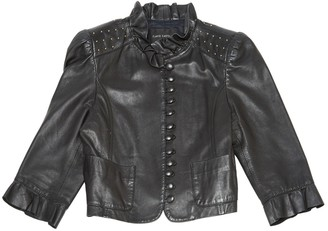 Flavio Castellani Black Leather Jacket for Women