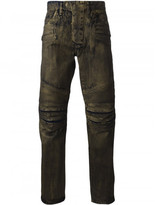 Balmain metallic slim biker jeans