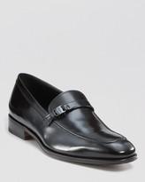 Salvatore Ferragamo Laquered Leather Loafers