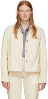 Lemaire Off-White Denim Boxy Jacket