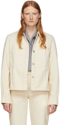 Lemaire Off-White Denim Boxy Jacket