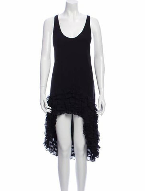 Thomas Wylde Silk Midi Length Dress Black