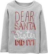 Carter's Dear Santa Tee (Toddler/Kid) - Heather-3T