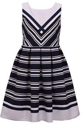 Bonnie Jean Little Kid / Big Kid Girls Plus Sleeveless Striped A-Line Dress