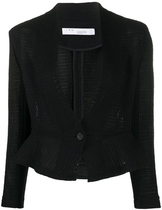 IRO Crochet Fitted Peplum Jacket