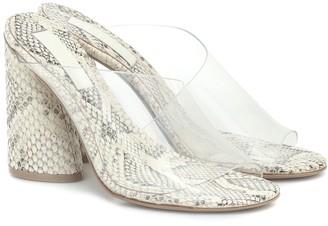 Mercedes Castillo Kuri snake-effect leather sandals