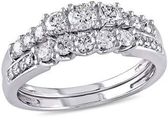 Concerto 0.82 CT. T.W. Diamond Three-Stone Bridal Set in 14k White Gold