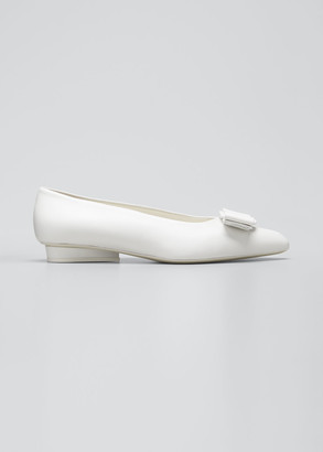 Salvatore Ferragamo Viva Bow Pointed-Toe Ballet Flats