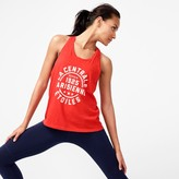 J.Crew Racerback tank top with French logo