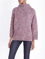 Rag & Bone Bry flecked turtleneck knitted jumper
