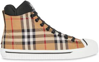 Burberry Vintage Check and Neoprene High-top Sneakers