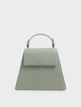 Charles & Keith Angular Top Handle Bag