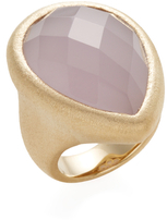 Rivka Friedman Faceted Lavender Chalcedony Crystal Satin Ring