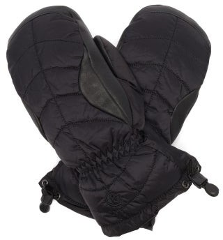 Bogner Selia Leather-panelled Ski Mittens - Black
