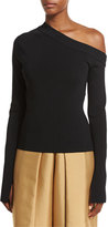 SOLACE London Kelsey Asymmetric Jersey Top, Black