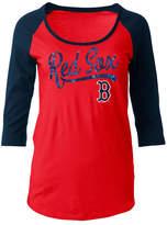 5th & Ocean Women's Boston Red Sox Sequin Raglan T-Shirt