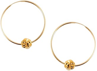 Marie June Jewelry Monkey Paw Knot Gold Hoops
