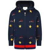Gucci GUCCIBaby Boys Navy Embroidered Zip Up Top