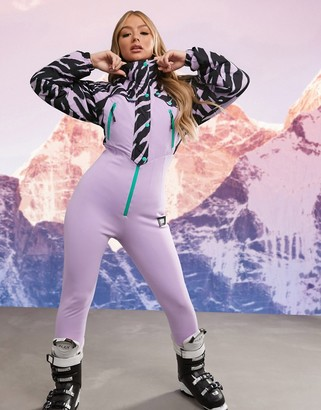 ASOS 4505 all in one 80s printed ski suit