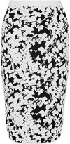 Milly Midnight jacquard-knit skirt