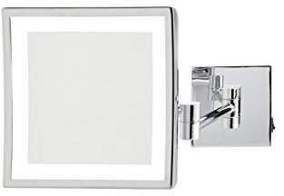 """Jerdon JRT885CLD 8"""" x 8"""" LED Lighted Wall Mount Mirror"""