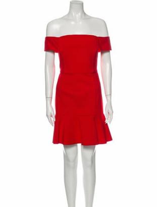 Nicholas Off-The-Shoulder Mini Dress Red