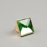 Green Crystal Oversized Ring