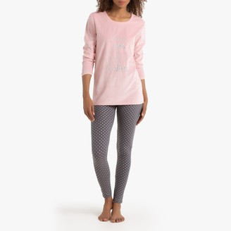 La Redoute Collections Dual Fabric Pyjamas in Cotton Mix