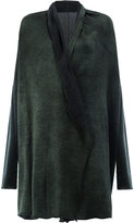 Avant Toi shawl lapel loose-fit cardigan - women - Silk/Cashmere - XS