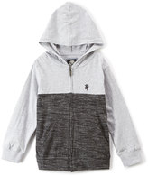English Laundry Heather Gray Color Block Zip-Up Hoodie - Boys