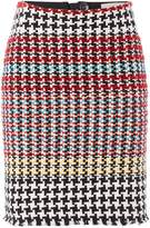 Oui Multi check skirt