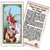 Gifts by Lulee Blessed By His Holiness Pope Francis Prayer to St Michael the Archangel Laminated Holy Card