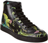 Gucci Tropical High-Top Leather Sneaker