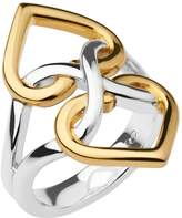 Links of London Infinite Love Sterling Silver and 18ct Gold Vermeil Ring